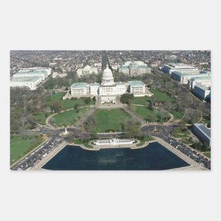 Capitol Hill Aerial Photograph 2 Rectangular Sticker