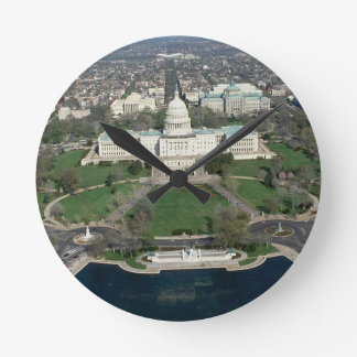 Capitol Hill Aerial Photograph 2 Round Clock
