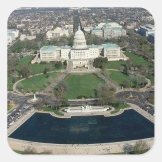Capitol Hill Aerial Photograph 2 Square Sticker