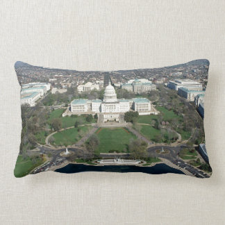 Capitol Hill Aerial Photograph 2 Throw Pillow