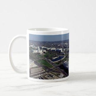 Capitol Hill Aerial Photograph Coffee Mug