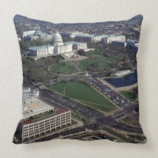 Capitol Hill Aerial Photograph Pillow