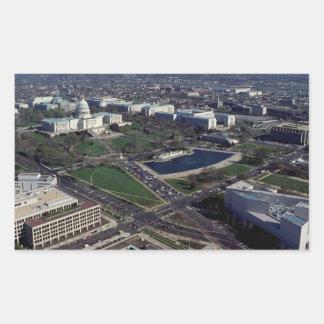 Capitol Hill Aerial Photograph Rectangular Sticker