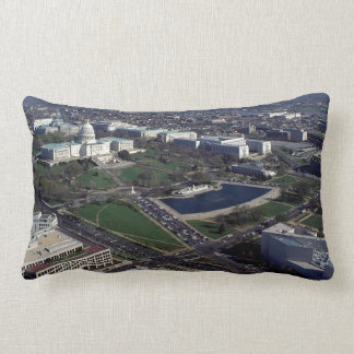 Capitol Hill Aerial Photograph Throw Pillow