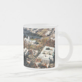 Capitol Hill DC Frosted Glass Coffee Mug