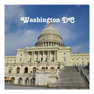 """Capitol Hill en DC Invitación 5.25"""" X 5.25"""""""