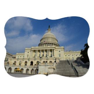 """Capitol Hill en DC Invitación 5"""" X 7"""""""