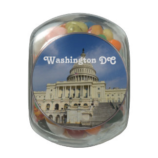 Capitol Hill in DC Glass Candy Jars