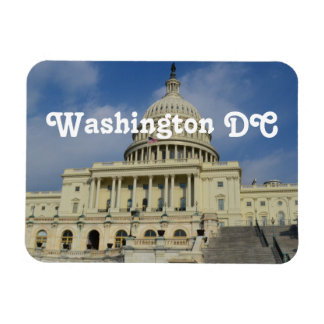 Capitol Hill in DC Rectangular Photo Magnet