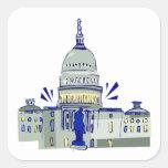 Capitol Hill Pegatinas Cuadradas