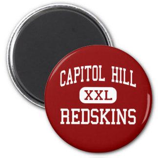 Capitol Hill - pieles rojas - alta - Oklahoma City Imán Redondo 5 Cm