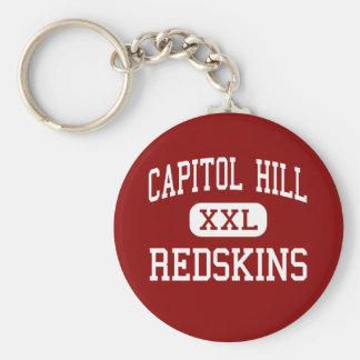 Capitol Hill - pieles rojas - alta - Oklahoma City Llavero Redondo Tipo Pin