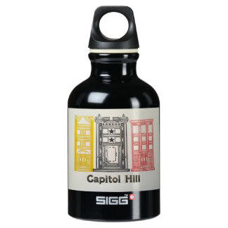 Capitol Hill Row Houses Water Bottle