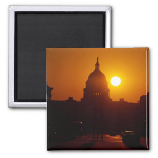 Capitol Hill Sunset 2 Inch Square Magnet
