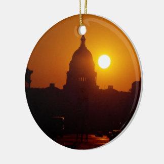 Capitol Hill Sunset Ceramic Ornament