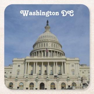 Capitol Hill Square Paper Coaster