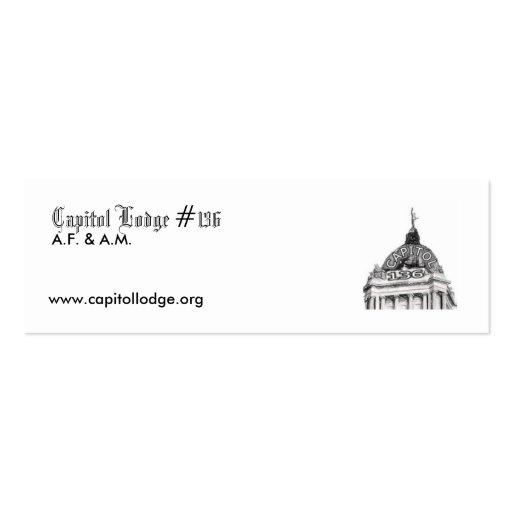 Capitol Lodge Zip Card Business Card Templates