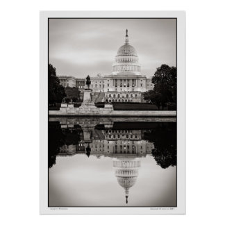 Capitol Morning Poster