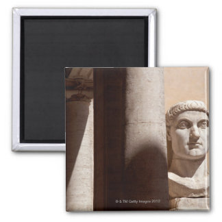 Capitol museum, bust face of emperor constantine 2 inch square magnet