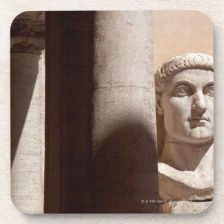 Capitol museum, bust face of emperor constantine beverage coasters