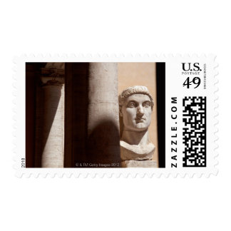 Capitol museum, bust face of emperor constantine postage