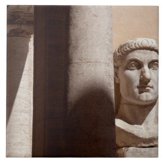 Capitol museum, bust face of emperor constantine tile