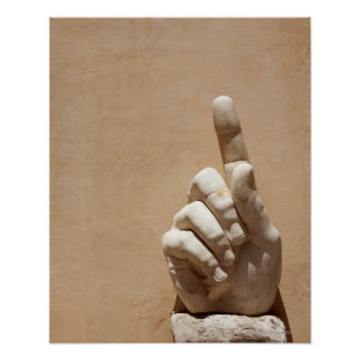 Capitol Museum, hand  from emperor constantine Poster