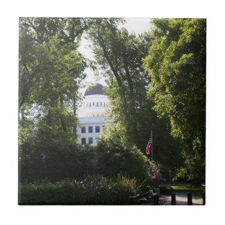 Capitol peeking through the Trees Ceramic Tile