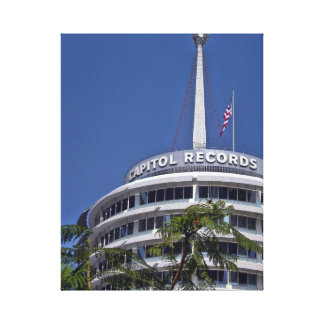 Capitol Records Building - Hollywood Canvas Print