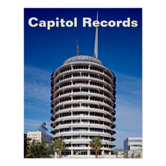 Capitol Records Hollywood California Poster