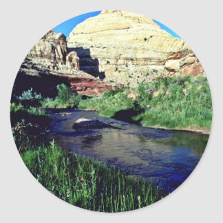Capitol Reef Formation - Capitol Reef National Par Classic Round Sticker