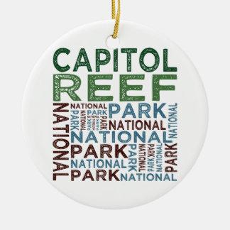 Capitol Reef National Park Ceramic Ornament