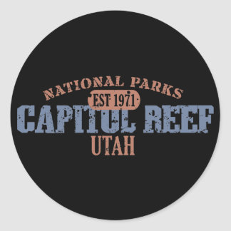 Capitol Reef National Park Classic Round Sticker