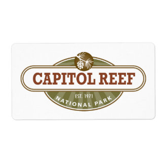 Capitol Reef National Park Custom Shipping Labels