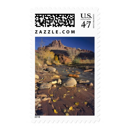 CAPITOL REEF NATIONAL PARK, UT, US, Cottonwood Postage Stamp