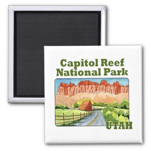 capitol reef national park utah magnet