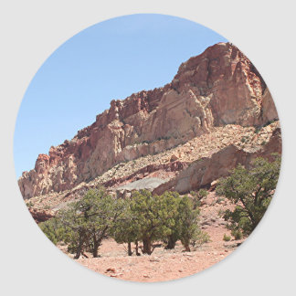 Capitol Reef National Park, Utah, USA 12 Classic Round Sticker