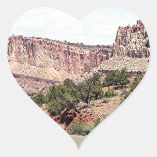 Capitol Reef National Park, Utah, USA 13 Heart Sticker