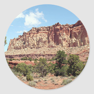 Capitol Reef National Park, Utah, USA 16 Classic Round Sticker