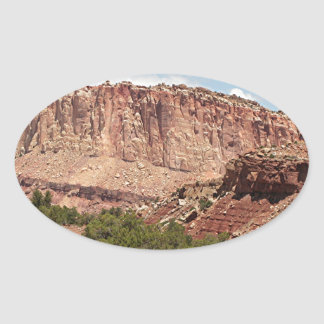 Capitol Reef National Park, Utah, USA 17 Oval Sticker