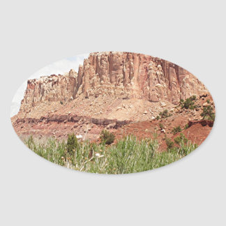 Capitol Reef National Park, Utah, USA 18 Oval Sticker
