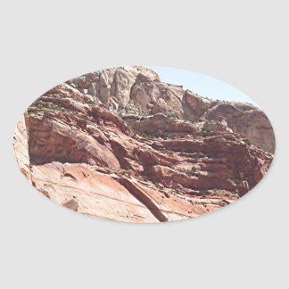 Capitol Reef National Park, Utah, USA 4 Oval Sticker