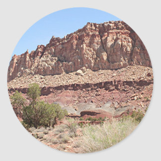 Capitol Reef National Park, Utah, USA 7 Classic Round Sticker
