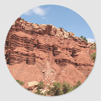 Capitol Reef National Park, Utah, USA 8 Classic Round Sticker