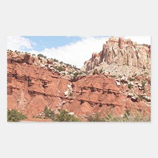 Capitol Reef National Park, Utah, USA 9 Rectangular Sticker