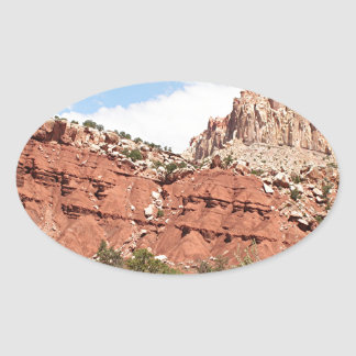 Capitol Reef National Park, Utah, USA 9 Oval Sticker