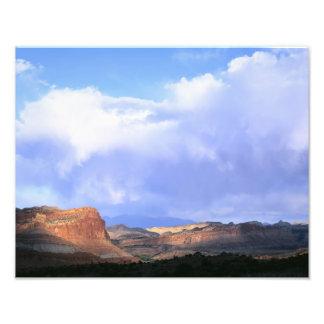 Capitol Reef National Park, Utah. USA. Cumulus Photo Print