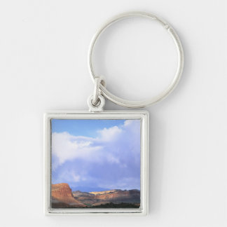 Capitol Reef National Park, Utah. USA. Cumulus Silver-Colored Square Keychain