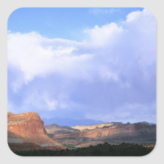 Capitol Reef National Park, Utah. USA. Cumulus Square Stickers
