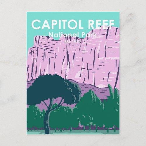 Capitol Reef National Park Utah Vintage Postcard